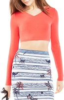 BCBGMAXAZRIA Brinli Crossover Crop Top