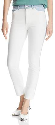 DL1961 Farrow Color-Block High-Rise Ankle Skinny Jeans in Abis - 100% Exclusive