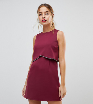 Asos Scuba Crop Top with Embellished Trim Mini Dress