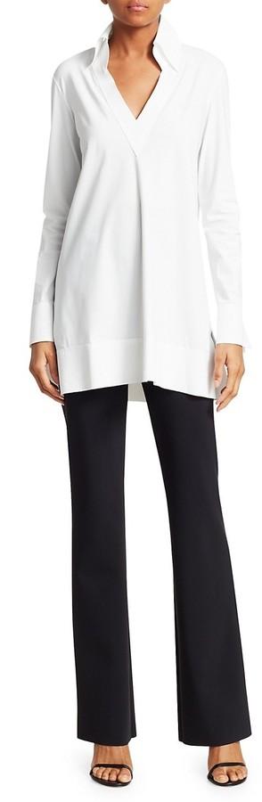 Thumbnail for your product : Chiara Boni La Petite Robe Parthea Collar V-Neck Tunic