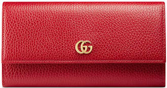 Gucci Petite Marmont Leather Flap Wallet