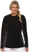 Speedo Plus Size Long Sleeve Rashguard
