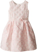 Us Angels Sleeveless Empire Poly Jacquard with a Full Skirt Dress (Little Kids)