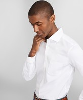 Brooks Brothers Milano Slim Fit Dress Shirt, Performance Non-Iron with COOLMAX, English Spread Collar Twill