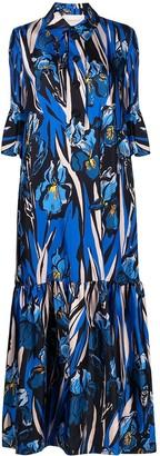 La DoubleJ Iris Print Shirt Dress