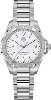 Tag Heuer WAY1312BA0915 Aquaracer polished steel and mother-of-pearl watch