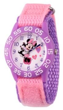 EWatchFactory Disney Minnie Mouse Girls' Purple Plastic Time Teacher Watch