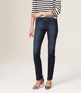 LOFT Modern Straight Leg Jeans in Vintage Mid Indigo Wash
