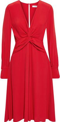 Equipment Faun Twist-front Crepe Dress