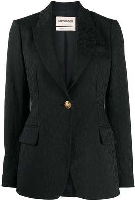 Roberto Cavalli Jacquard Single-Breasted Blazer