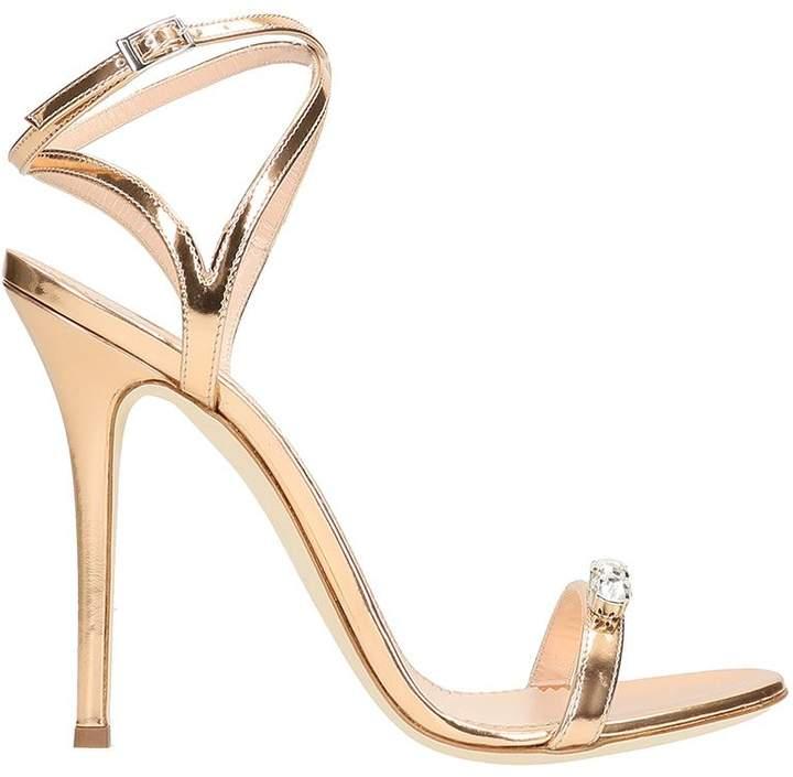 Giuseppe Zanotti Gold Pink Leather Sandals