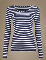 Marks and Spencer HeatgenTM Thermal Long Sleeve Striped Top