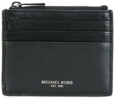 Michael Kors top zipped flat cardholder - men - Leather - One Size