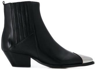 Schutz Metallic Cap Boots