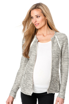 A Pea in the Pod Drew Zip Front Tweed Maternity Jacket