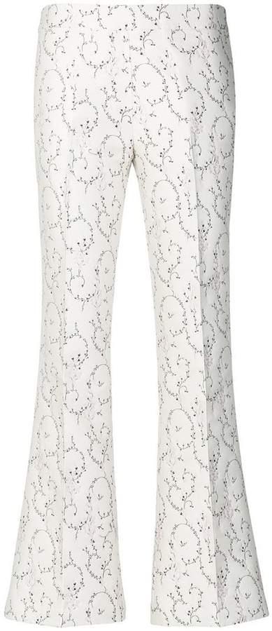 Giambattista Valli silk floral trousers