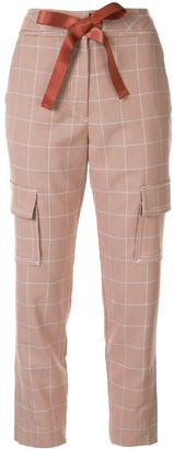 Manning Cartell ribbon drawstring check trousers