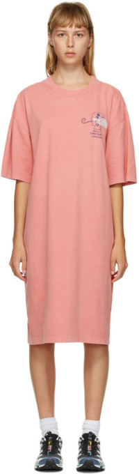 Brain Dead Pink The North Face Edition Ringer T-Shirt Dress