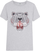 Kenzo Printed Cotton-jersey T-shirt - Gray