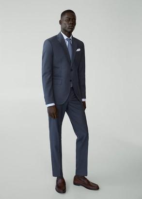 MANGO MAN - Slim fit virgin wool suit blazer prussian blue - 38 - Men