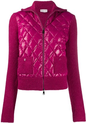 Moncler Knitted Sleeves Quilted Puffer Jacket