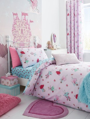 Catherine Lansfield Fairies Junior Duvet Cover and Pillowcase Set