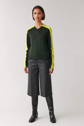 Cos COLOUR-BLOCK WOOL TOP