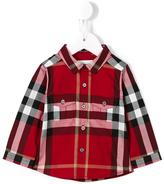 Burberry checked shirt - kids - Cotton - 18 mth