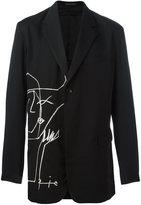 Yohji Yamamoto lateral embroidery blazer