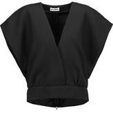 Jil Sander Wrap-Effect Wool And Silk-Twill Top