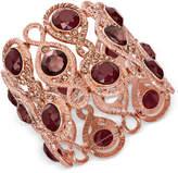 INC International Concepts Rose Gold-Tone Stone & Pavé Filigree Stretch Bracelet, Created for Macy's