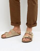 Birkenstock Arizona Suede Sandals in Taupe