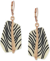 Vince Camuto Rose Gold-Tone Acetate Stone Drop Earrings