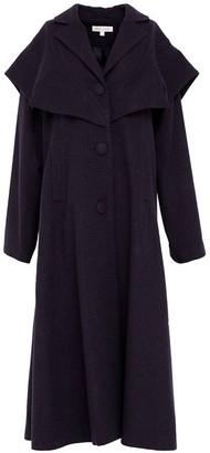 Doyi Park Oversized Double-Collar Coat Navy purple