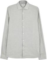 J.lindeberg Daniel Grey Herringbone Cotton Shirt