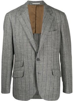 Brunello Cucinelli Striped Single-Breasted Blazer