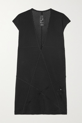 Rick Owens Champion Ixta Dylan Appliqued Mesh Top - Black