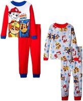 Disney Paw Patrol 4 Piece Pajama Set (Kid) - Red/Gray - 4