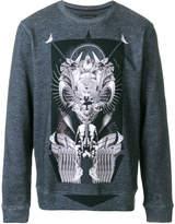 Frankie Morello space Egypt print sweatshirt