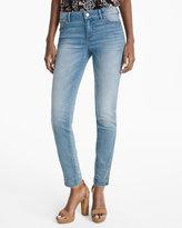 White House Black Market Snap Hem Skimmer Jeans