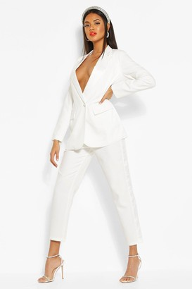 boohoo Satin Panel Dress Pants