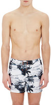 Sundek Men's Palm-Tree-Print Swim Trunks