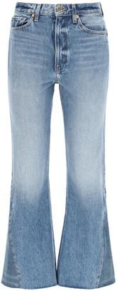 KHAITE Layla Frayed Hem Flare Jeans