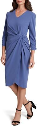 Tahari Side Knot Sheath Dress