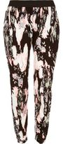 River Island Woblack Marble Print Joggers