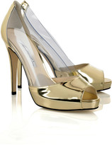 Brian Atwood Alley patent leather and PVC pumps