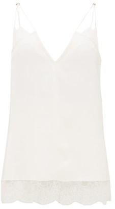 KHAITE Eleanor V-neck Canvas Camisole - White