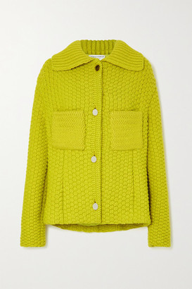 Bottega Veneta Waffle-knit Wool-blend Jacket - Yellow