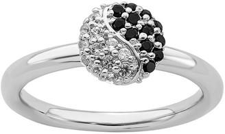 Yin & Yang Simply Stacks Sterling Yin Yang Ring