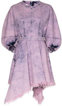 Marques Almeida Tie-Dye Denim Mini Dress